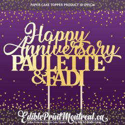 095CM Happy Anniversary Names Cake Topper