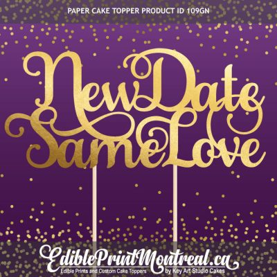 109GN New Date Same Love Wedding Anniversary Cake Topper
