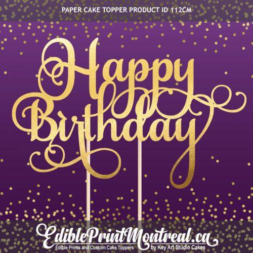 112GN Happy Birthday Cake Topper