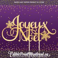 127GN Joyeux Noel Paper Cake Topper Christmas French
