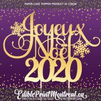 128GN Joyeux Noel Year Paper Cake Topper 2020 Christmas French