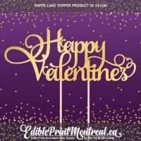 141GN Happy Valentines Custom Paper Cake Topper