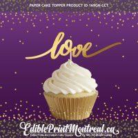 "169GN-CCT Love Cupcake Topper Set 4"" wide"