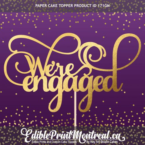 171GN We're Engaged Cake Topper