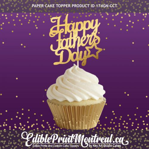 174GN-CCT Happy Fathers Day Cupcake Topper Set