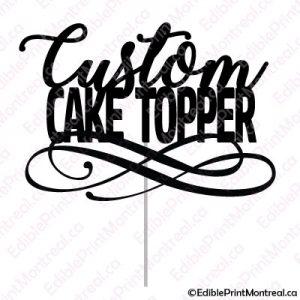 000 Custom Cake Topper